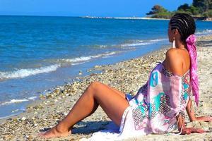 godendo il sole e il mare