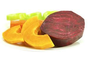 verdure su un piatto foto
