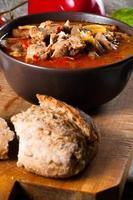 zuppa di gulasch con paprika.