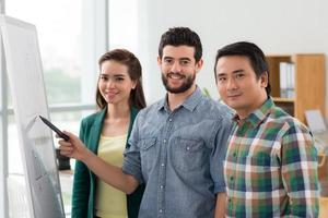 squadra multietnica di affari foto