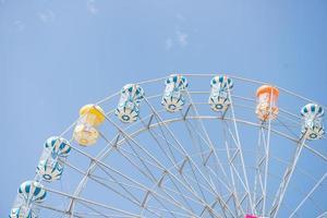 ruota panoramica con cielo blu