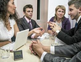 "squadra di affari di ""brainstorming"" foto"