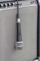 microfono sull'amplificatore