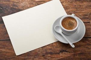 caffè e lettera foto