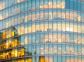 ufficio commerciale grattacielo, finestra edificio aziendale, londra, inghilterra foto