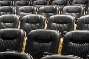 parte anteriore del sedile del teatro foto