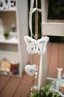 farfalla di decorazioni di nozze foto