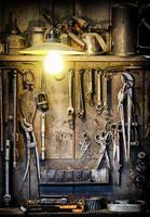 vecchio banco da lavoro foto