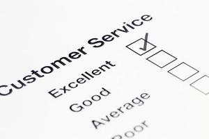 feedback del servizio clienti foto