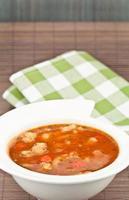 zuppa e tovagliolo foto