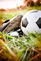 scarpe da calcio e calcio foto
