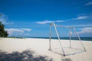 calcio da spiaggia foto