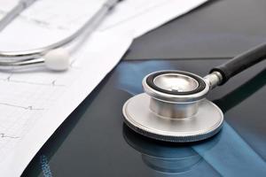 stetoscopio e raggi x foto