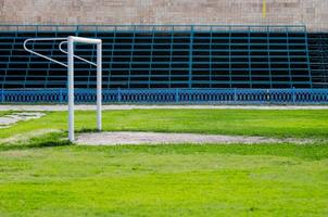 cancello di calcio al vecchio stadio foto