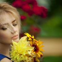 ragazza con fiori