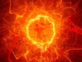 campo di potenza al plasma a forma di torus ardente foto