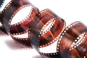 Rotolo di pellicola 35mm isolato foto