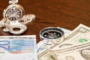 le tasse sono per gli articoli richiesti per un lungo viaggio foto