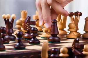 partita di scacchi foto