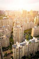 veduta aerea delle case foto