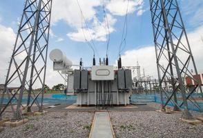 trasformatore di potenza nella sottostazione 115 kv / 22 kv