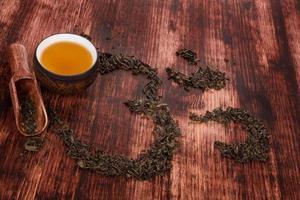 bere il tè tradizionale.