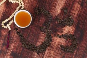 bere il tè tradizionale. foto