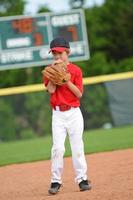 lanciatore di baseball nervoso foto
