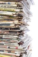pila di giornali foto