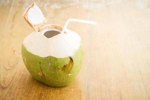 bevanda con acqua di cocco foto