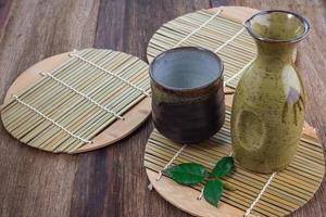 set per bere sake giapponese foto