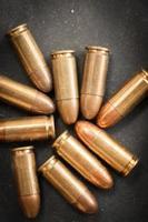 Proiettile da 9 mm per una pistola foto