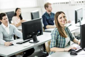 studenti in classe foto