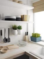 primo piano di progettazione della stanza della cucina foto