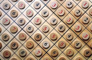 numeri di legno