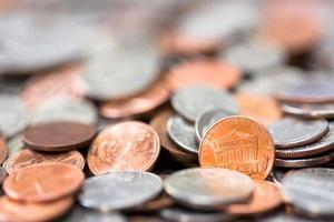 sfondo di monete americane foto