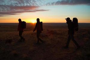 camminando tra gli escursionisti di sunglow