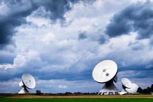 parabola satellitare - radiotelescopio foto