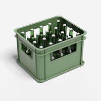 bere cassa con bottiglie di birra foto