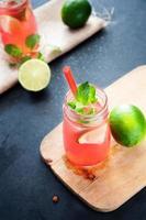 delizioso drink al melone e lime