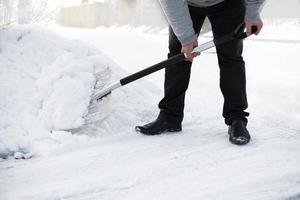 spalare la neve foto