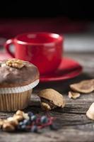 muffin e tazza di caffè foto