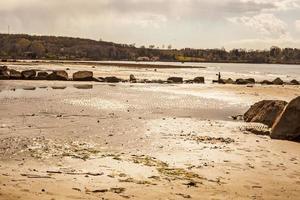 retroilluminazione sulla spiaggia foto