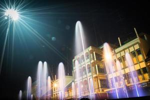 fontana del centro (ratchaburi thailandia) foto