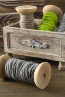 rocchetti di filato di lana