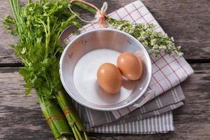 uovo di padella foto