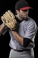 giocatore di baseball lanciatore foto
