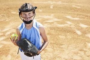 giocatore di softball foto