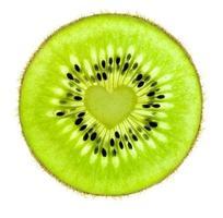 cuore di un kiwi / super macro / retroilluminato foto