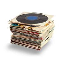 dischi in vinile usati foto